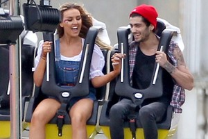 Perrie and Zayn at her birthday funfair ❤☀