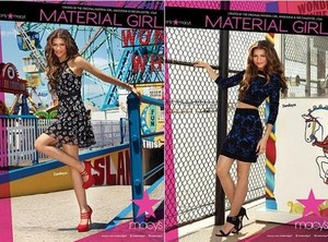 Promotional pictures for 'Material Girl' campaign