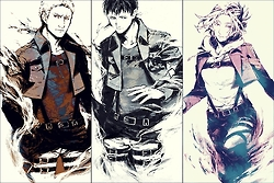Titan Trio Shingeki No Kyojin Attack On Titan Fan Art 37253891 Fanpop