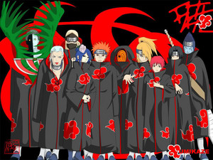 Criminals at their best.The Akatsuki.