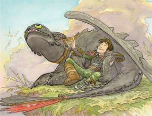 Hiccup and Toothless sejak Dean DeBlois