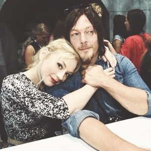Norman Reedus and Emily Kinney