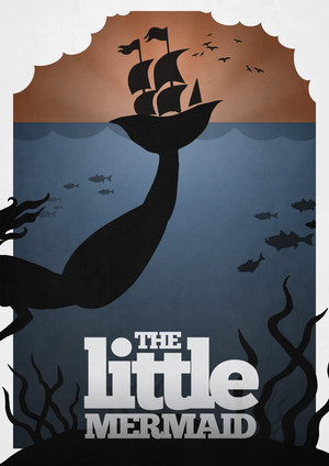 Retro Poster - The Little Mermaid