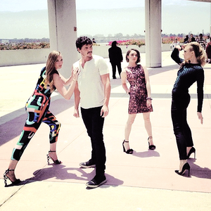 Sophie Turner, Pedro Pascal, Maisie Williams and Natalie Dormer