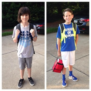 10th and 7th grades! Happy first दिन of school!
