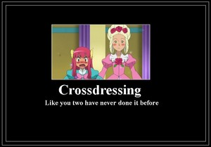Ash and Cilan crossdressing