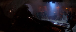 Jabba Enjoys Watching Oola's Death