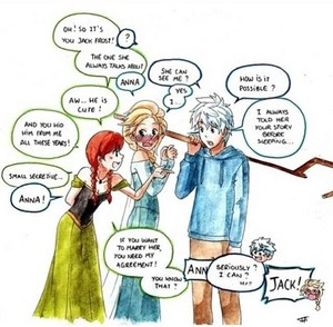 Jack Frost, Queen Elsa and Anna