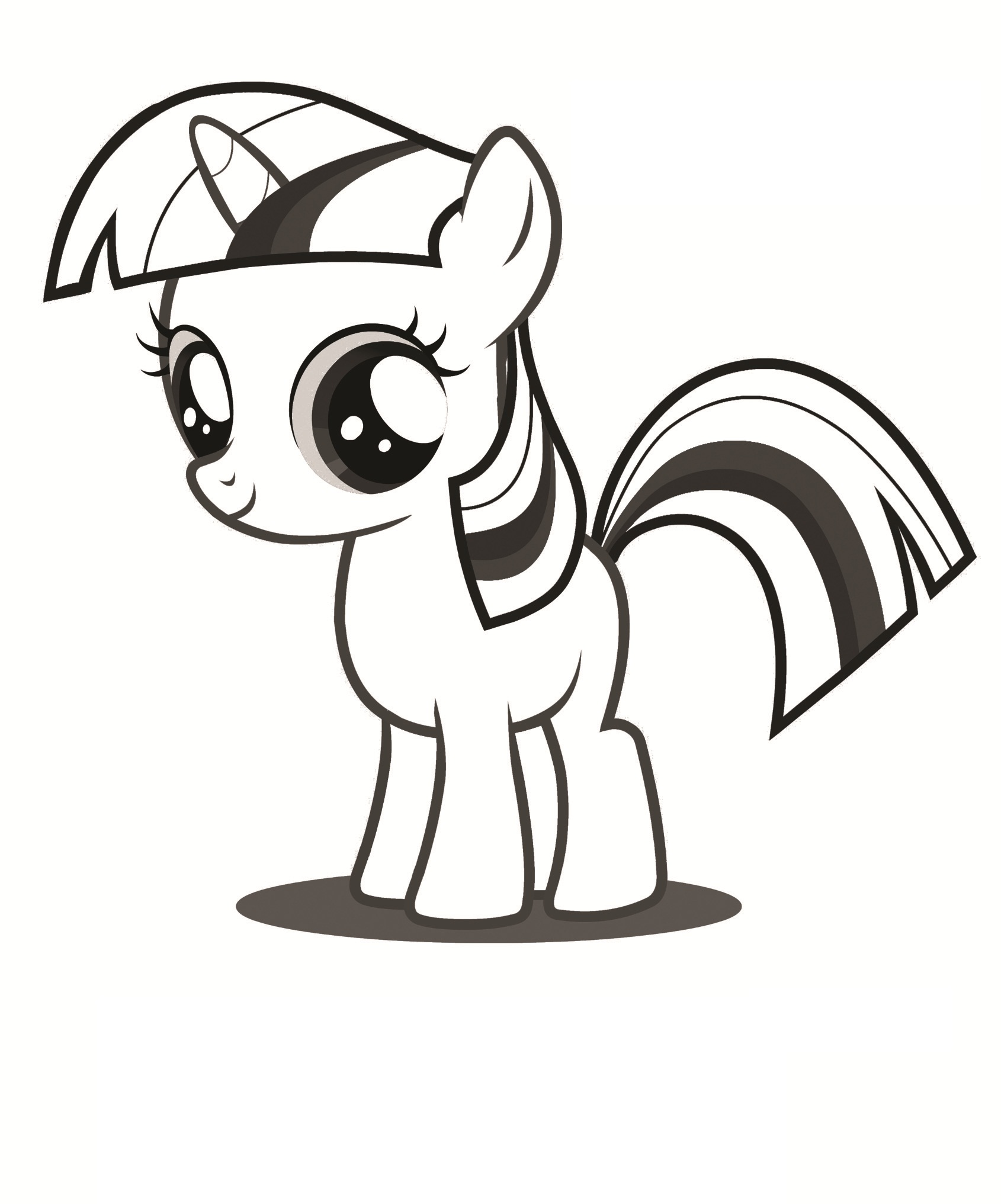 My Little kuda, kuda kecil Colouring Sheets - Twilight Sparkle Filly