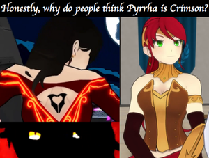 Pyrrha = Cinder? I think not.