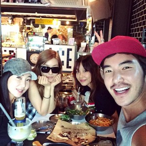Tiffany with her friend Woori Kim