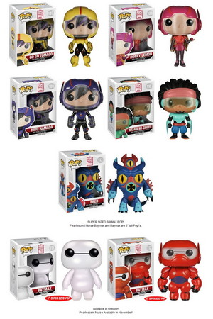 Big Hero 6 Pop! Vinyl collection