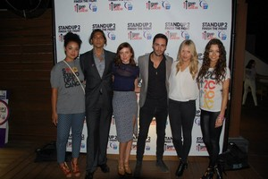 Chasing Life Cast at the American Cancer Society SU2C Party