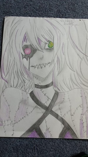 Creepy Miku that I drew