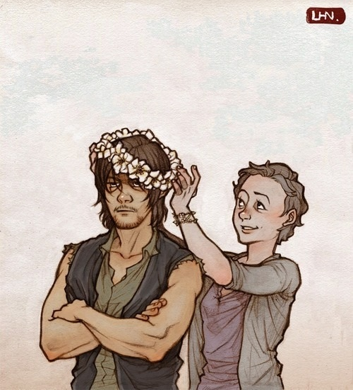 Daryl And Carol Os Mortos Vivos Fa Art 37551651 Fanpop