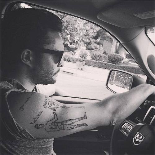 Ed Westwick Tattoos