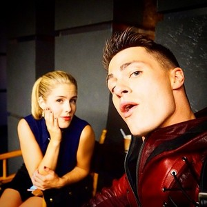 Emily and Colton BTS