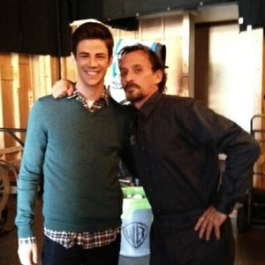 Grant Gustin and Robert Knepper