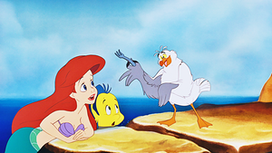HD Blu-Ray Disney Princess Screencaps - Princess Ariel, platessa, passera pianuzza & Scuttle