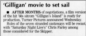 gilligan's island movie starring chris farley and adam sandler {but never made}