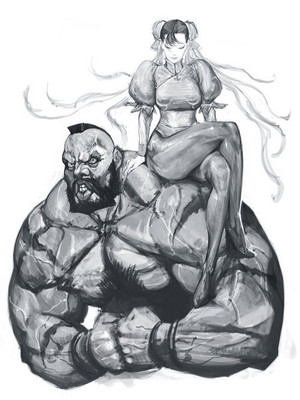 Chun-li and Zangief