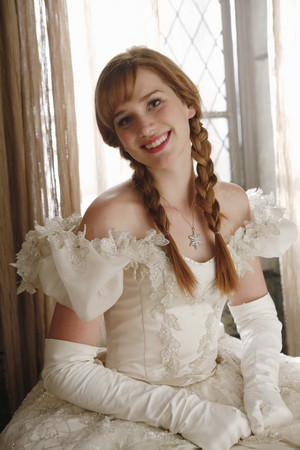 Anna in her mother's wedding dress