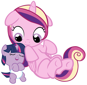 Baby Twilight Sparkle and Young Candace