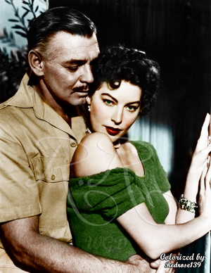 "Clark Gable and Ava Gardner in Mogambo ""1953"""
