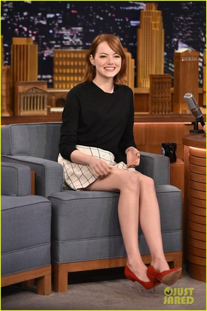 Emma Stone on The Tonight onyesha