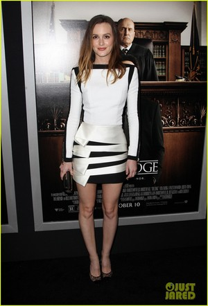 Leighton Meester Step Out for 'Judge' Premiere
