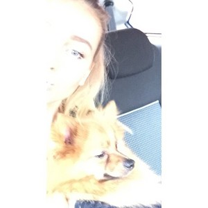New picture of Perrie with Hatchi from her Instagram