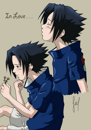 Sasuke in love!