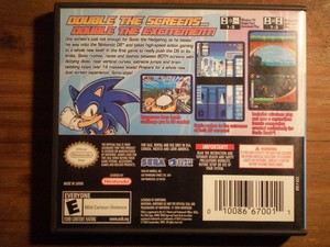 Sonic Rush Back Cover