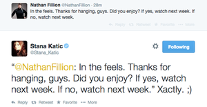 Stanathan tweet(September 29th,2014)