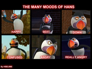 The many moods of Hans ( Made by me XD)