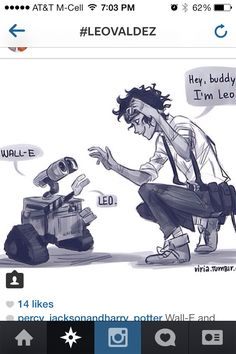 Walle and Leo meet