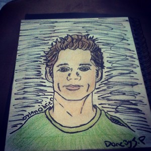 jennifer, this is a drawing of styles but his real name is dylan o'bien