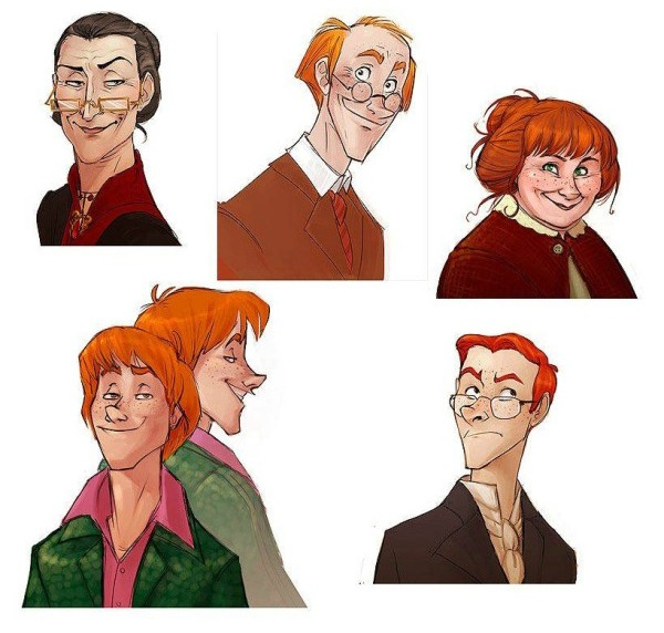 Harry Potter as Disney Characters