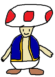 MSPaint Drawing of Toad