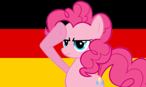 Pinkie Pie Saluting