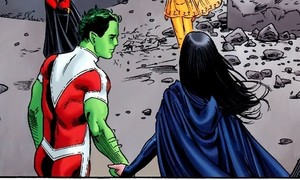 Raven and Beast Boy Holding Hands