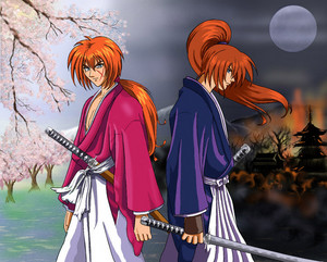 Rurouni Kenshin- Battosai and Kenshin