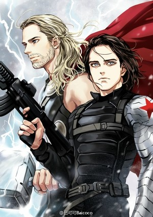 Thor and Bucky