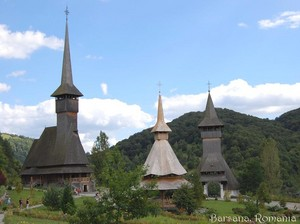 Barsana wooden churches Maramures Romania