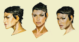 Cassandra concept art in The Art of Dragon Age: Inquisition