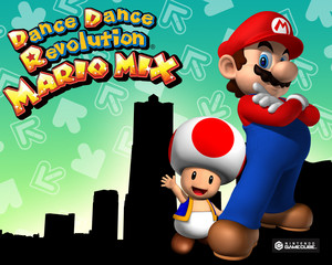 Dance Dance Revolution Mario Mix Background