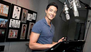Daniel Henney in the recording booth