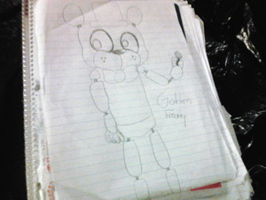 Golden Freddy drawing (Uncolored version)