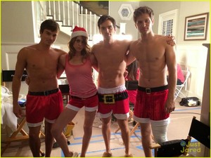 Ian Harding, Keegan Allen, and Tyler Blackburn Go Shirtless in Just Santa Boxers!