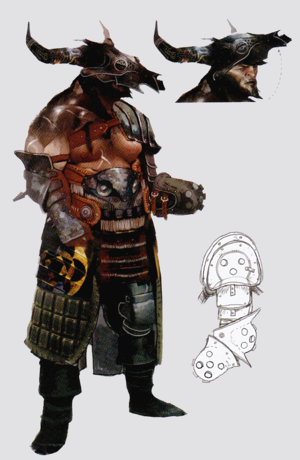Iron Bull concept art in The Art of Dragon Age: Inquisition